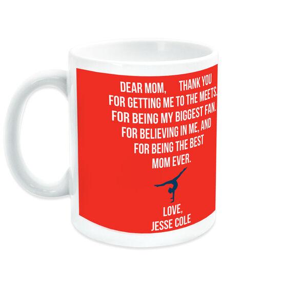 Gymnastics Coffee Mug - Dear Mom Heart (Girl Gymnast)
