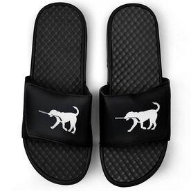 Hockey Black Slide Sandals - Hockey Dog