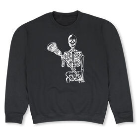 Guys Lacrosse Crew Neck Sweatshirt - Skeleton (White)