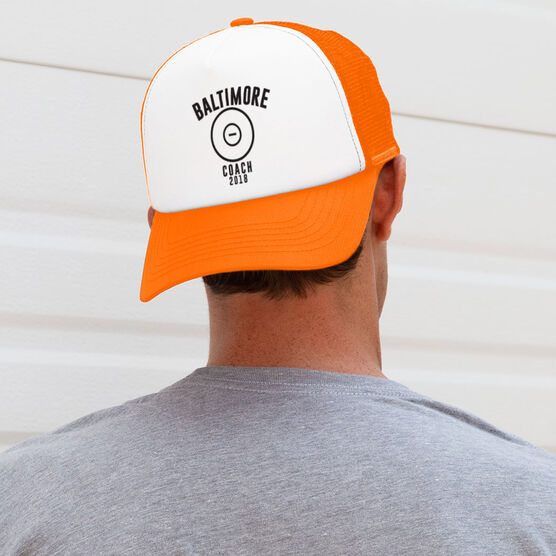 Wrestling Trucker Hat - Team Name Coach With Curved Text