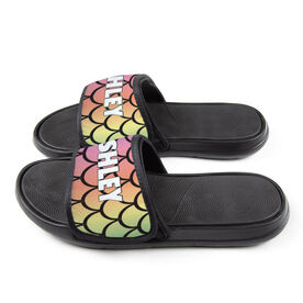 Personalized For You Repwell™ Slide Sandals - Rainbow Mermaid Scales