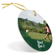 Soccer Porcelain Ornament Your Photo Here