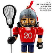 Guys Lacrosse Nutcracker Resin Ornament