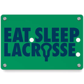 Guys Lacrosse Metal Wall Art Panel - Eat Sleep Lacrosse