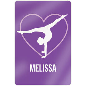 "Gymnastics 18"" X 12"" Aluminum Room Sign - Personalized Heart"