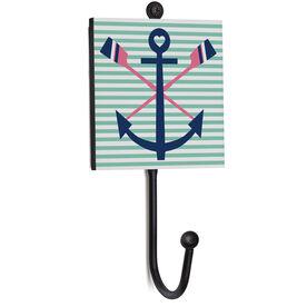 Crew Medal Hook - Crossed Oars Anchor