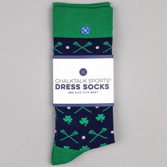 Men's Lacrosse Dress Socks - Blarney Clover