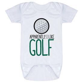 Golf Baby One-Piece - Apparently, I Like Golf