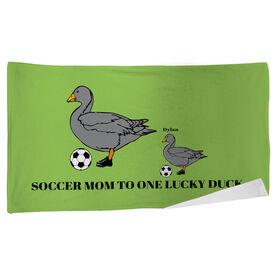 Soccer Beach Towel Mom Lucky Ducks