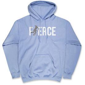 Field Hockey Standard Sweatshirt - Fierce Field Hockey Girl with Silver Glitter