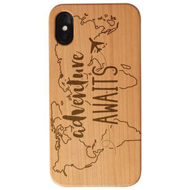 Engraved Wood IPhone® Case - Adventure Awaits