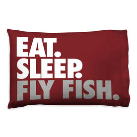 Fly Fishing Pillowcase Eat Sleep Fish