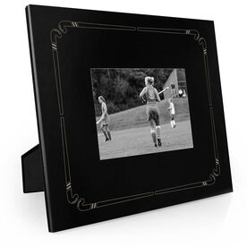 Field Hockey Engraved Picture Frame - Stick Border