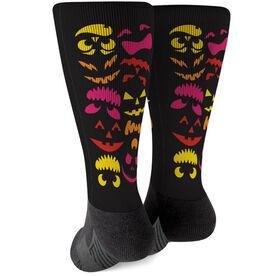 Printed Mid-Calf Socks - Spooky Pumpkins