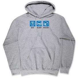 Soccer Standard Sweatshirt Eat Sleep Soccer