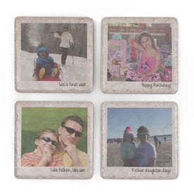 Personalized Stone Coasters Set of Four - Custom Photos