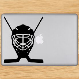 Hockey Goalie Mask Removable ChalkTalkGraphix Laptop Decal
