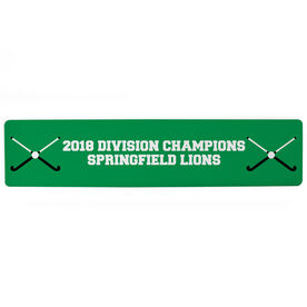"""Field Hockey Aluminum Room Sign - Your Text Field Hockey (4""""x18"""")"""