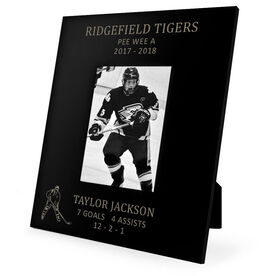 Hockey Engraved Picture Frame Player Stats