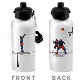 Basketball 20 oz. Stainless Steel Water Bottle - Go For The Points