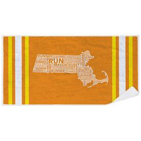 Running Premium Beach Towel - Massachusetts State Runner