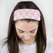 Softball Multifunctional Headwear - Softball Flower Pattern RokBAND