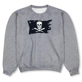 Baseball Crew Neck Sweatshirt - Baseball Pirate Flag