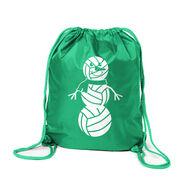 Volleyball Sport Pack Cinch Sack - Volleyball Snowman