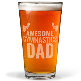 16 oz. Beer Pint Glass Awesome Gymnastics Dad