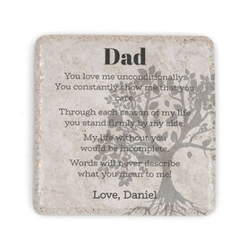 Personalized Stone Coaster - Letter to Dad