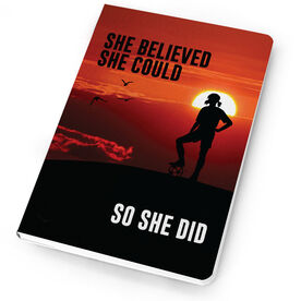 Soccer Notebook - She Believed She Could So She Did