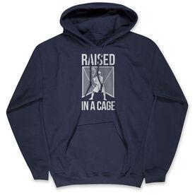 Guys Lacrosse Standard Sweatshirt - Raised In The Cage