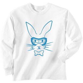 Girls Lacrosse Long Sleeve T-Shirt - Hopster Lacrosse Bunny