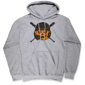 Baseball Hooded Sweatshirt - Helmet Pumpkin