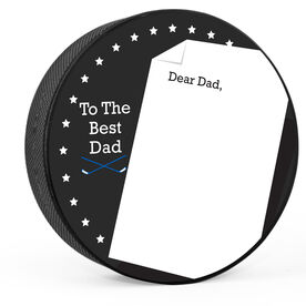Personalized Thanks Dad (Write In) Hockey Puck