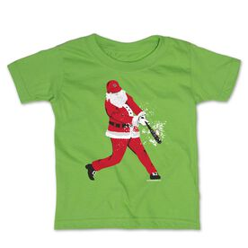 Baseball Toddler Short Sleeve Tee - Home Run Santa