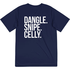 Hockey Short Sleeve Performance Tee - Dangle Snipe Celly Words