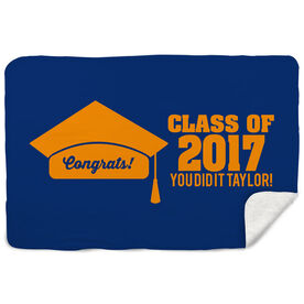 Sherpa Fleece Blanket - My Graduation