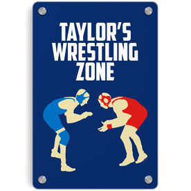 Wrestling Metal Wall Art Panel - Personalized Wrestling Zone