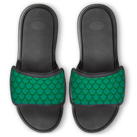 Personalized Repwell® Slide Sandals - Mermaid Scales