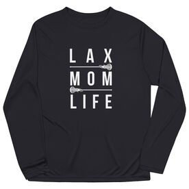Girls Lacrosse Long Sleeve Performance Tee - Lax Mom Life