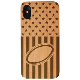 Rugby Engraved Wood IPhone® Case - USA rugby