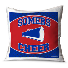 Cheerleading Throw Pillow Personalized Cheer Team With Megaphone