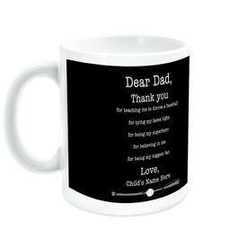 Baseball Coffee Mug Dear Dad Thank You