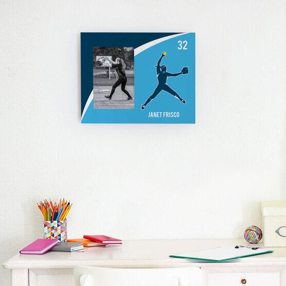 Softball Photo Frame - Personalized Softball Pitcher