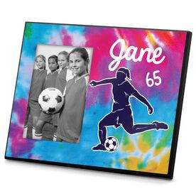 Soccer Photo Frame Personalized Girl Soccer Tie Dye