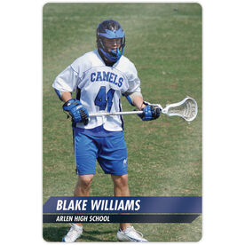 "Guys Lacrosse 18"" X 12"" Aluminum Room Sign - Classic Vertical Photo"