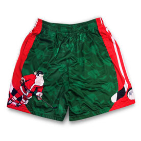 Slap Shot Santa Christmas Hockey Shorts