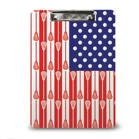 Guys Lacrosse Custom Clipboard USA Lacrosse Stick Flag