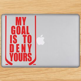 My Goal Is To Deny Yours Removable ChalkTalkGraphix Laptop Decal